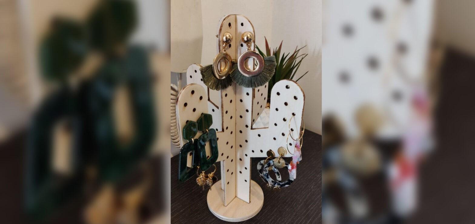 Cactus porte bijoux découpe laser