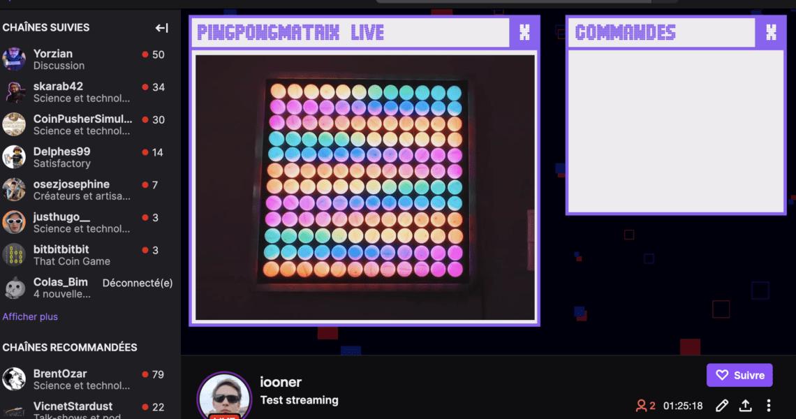 Screenshot Twitch Ping-Pong Matrix