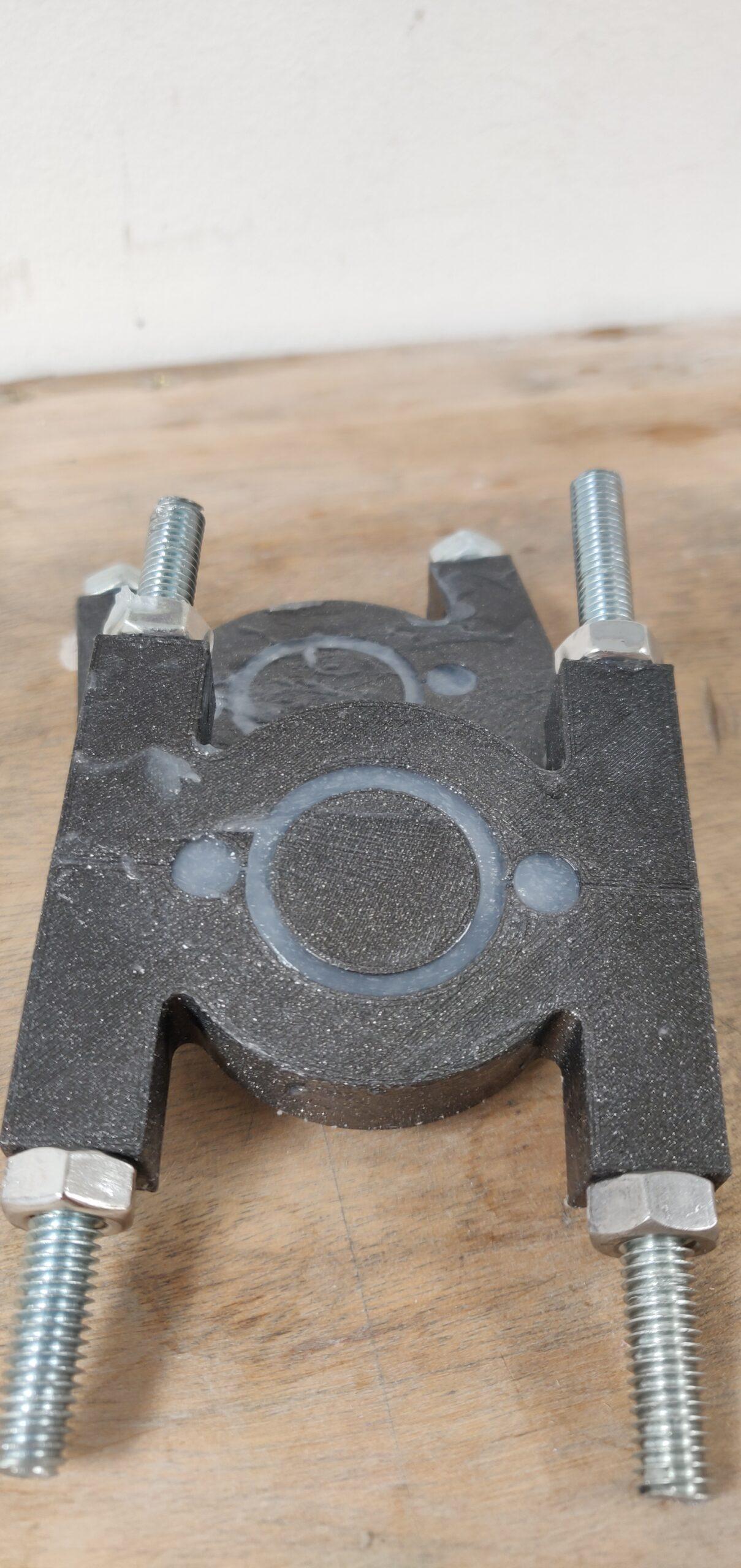 Moulage pneu de robot en silicone DIY