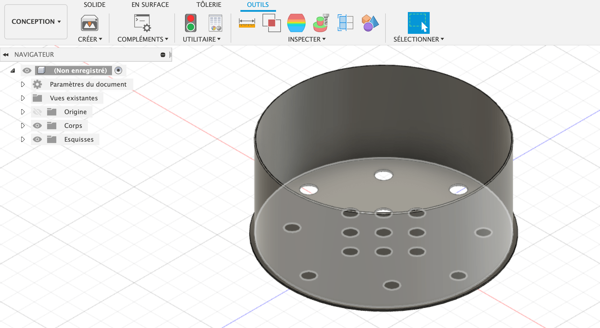 Modélisation 3D bouche de ventilation